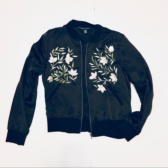 Supply & Demand Jackets & Blazers - Supply & Demand Cipon Embroidered Bomber Jacket